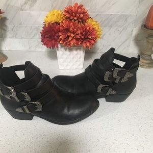 Ankle Booties with 3 Buckles